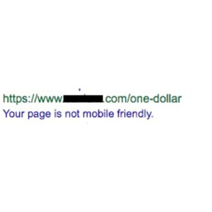 Google Not Mobile Friendly